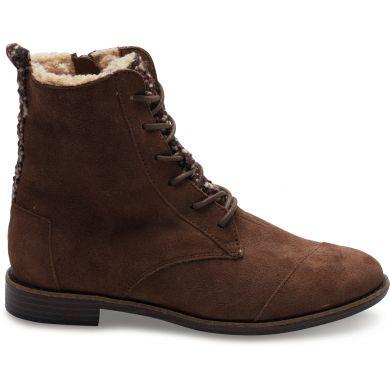 Hnědé dámské kotníkové boty TOMS Alpa Boot