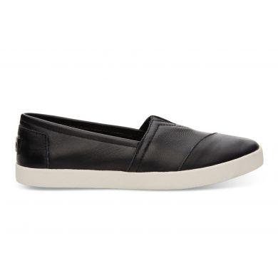 Černé dámské kožené TOMS Avalon Slip-on