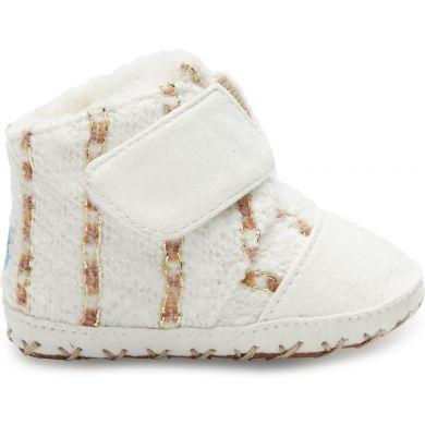 Dětské bílé botičky TOMS Cuna Metallic