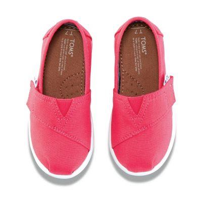 Dětské růžové TOMS Tiny Classic Alpargata
