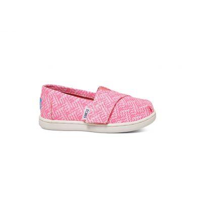 Dětské růžové TOMS Printed Tiny Alpargata