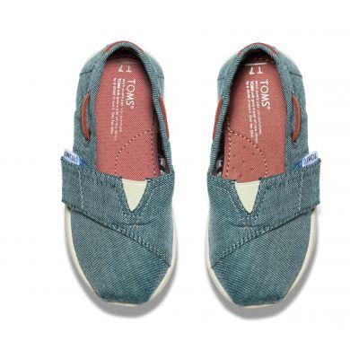 Dětské modré TOMS Tiny Chambray Biminis