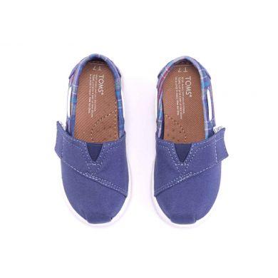 Dětské modré TOMS Plaid Tiny Biminis