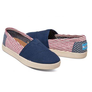 Barevné dámské TOMS Americana Avalon Slip-On