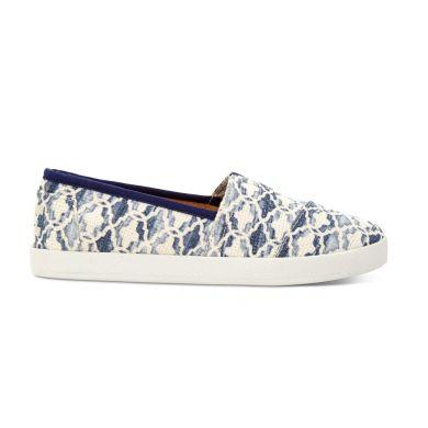 Modro-bílé dámské TOMS Tile Avalon Slip-on
