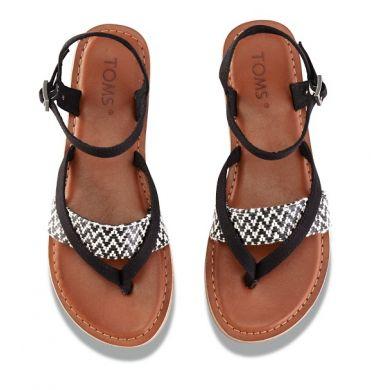 Dámske čiernobiele sandálky TOMS Lexie Sandal