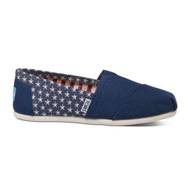 Modro-bílé dámské TOMS Americana Stars Alpargata