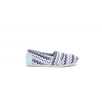 Modro-bílé dámské TOMS Chevron Alpargata