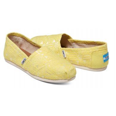 Žluté dámské TOMS Tribal Alpargata