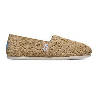 Zlaté dámské TOMS Crochet Alpargata