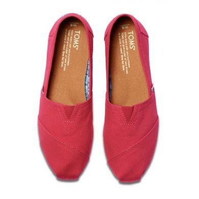 Růžové dámské TOMS Barberry Classic Alpargata