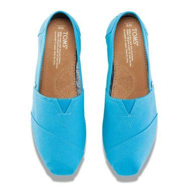 Modré dámské TOMS Peacock Classic Alpargata