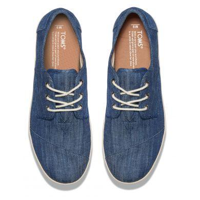 Modré pánské tenisky TOMS Chambray Paseo