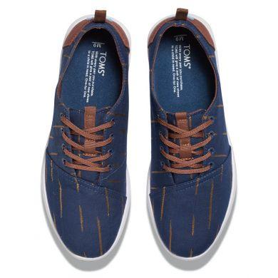Modré pánské tenisky TOMS Stripe Del Rey s pruhy