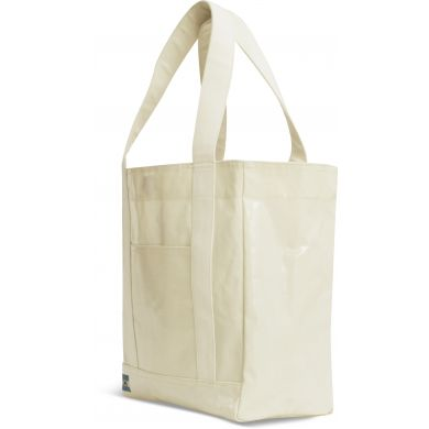 Natural Shiny Coated Canvas Tote