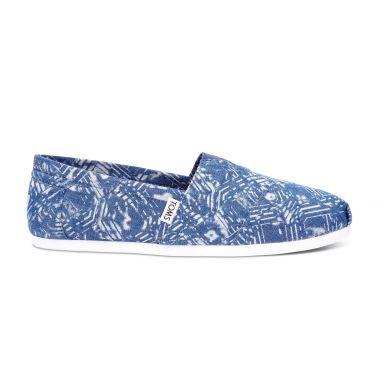 Modré pánské TOMS Batik Alpargata