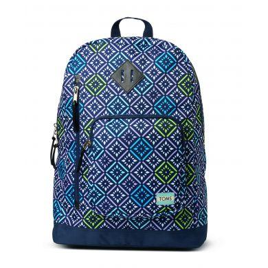 Barevný  batoh TOMS se vzorem