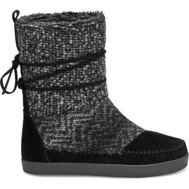 Čierne dámske vysoké topánky TOMS Nepal