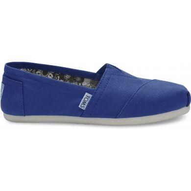 Modré dámske TOMS Turkish Classic Alpargata