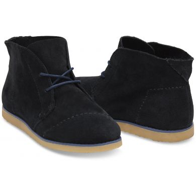 Čierne dámske členkové topánky TOMS Mateo Chukka