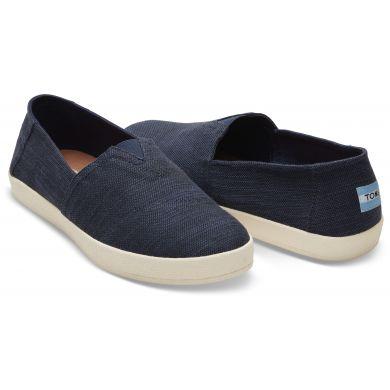 Pánske modré slip-ony TOMS Cotton Avalon