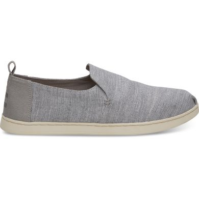Pánske sivé TOMS Chambray Striped Deconstructed Alpargata