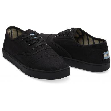 Pánske čierne tenisky TOMS Black on Black Heritage Cordones