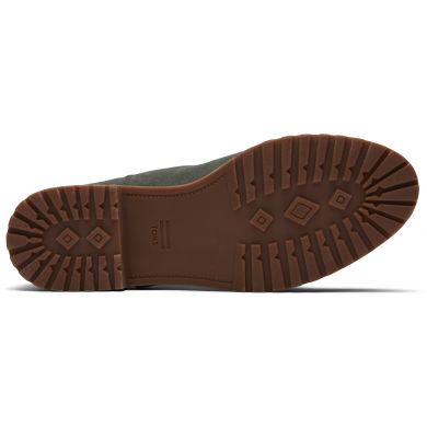 Dámske olivovo zelené semišové členkové topánky TOMS Cleo