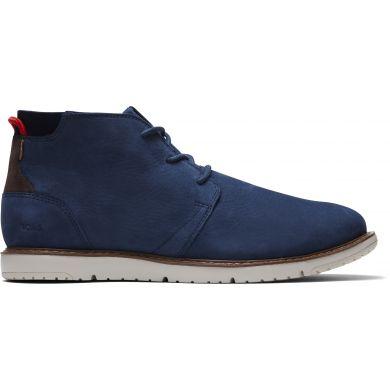 Pánske modré kožené členkové boty TOMS Navi