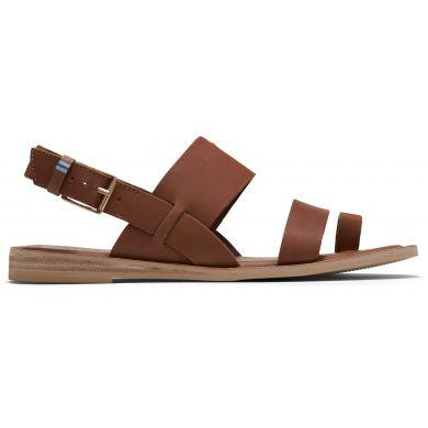 Dámske hnedé kožené sandále TOMS Freya