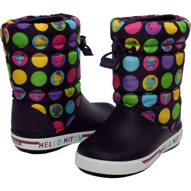 Crocband II.5 Gust Boot Hello Kitty Colorful Circles Kids