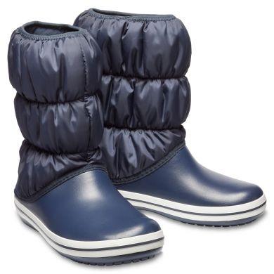 Winter Puff Boot Women Navy/White