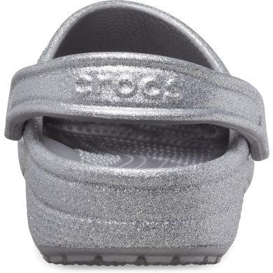 Classic Glitter Clog Silver