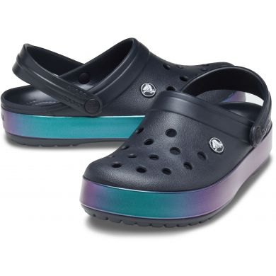 Crocband Iridescent Band Clog Black