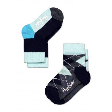 Dětské barevné ponožky Happy Socks, dva páry - káry