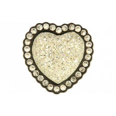 Crystal Heart Iridescent White