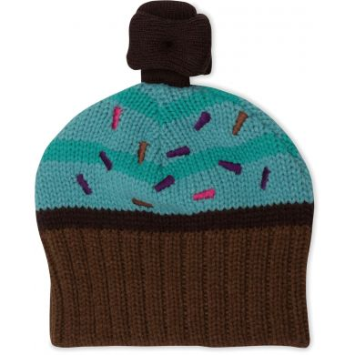 Girls Cupcake Knit Hat