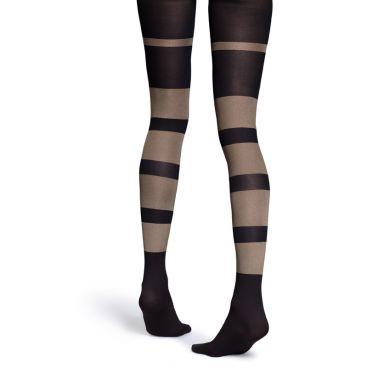 Hnědé punčocháče Happy Socks dvou odstínů