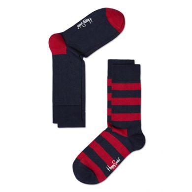 Černo-červené ponožky Happy Socks, dva páry
