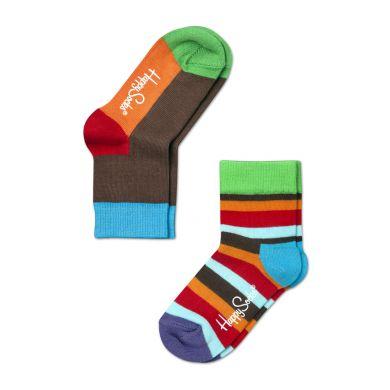 Dětské barevné ponožky Happy Socks, dva páry - Five Color a pruhy
