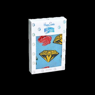 Modré trenýrky Happy Socks s diamanty a dolary, vzor D&D // kolekce Billionare Boys Club