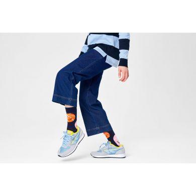 Modré ponožky Happy Socks s loptami, vzor Balls