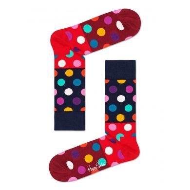 Červené ponožky Happy Socks bodkované, vzor Big Dot Block