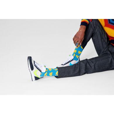 Modré ponožky Happy Socks, vzor Banana Sushi