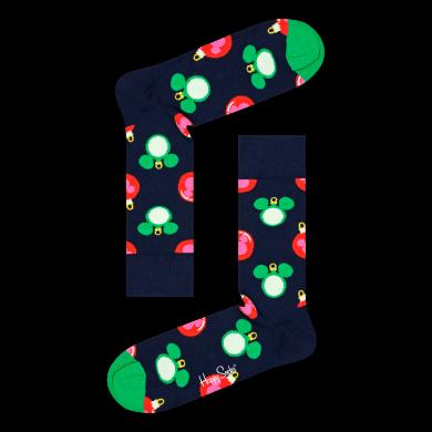 Modro-zelené ponožky Happy Socks x Disney - vzor Baublelicious