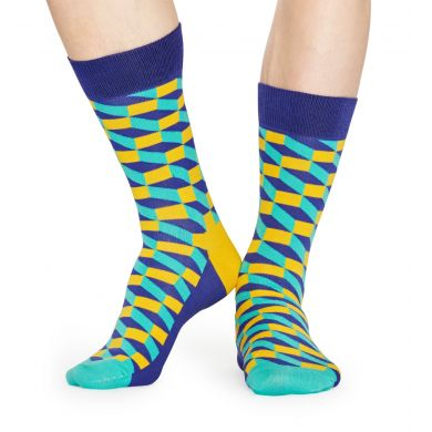 Modré ponožky Happy Socks s farebným vzorom Filled Optic