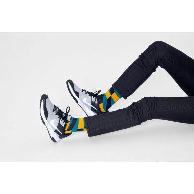 Zeleno-žlté ponožky Happy Socks, vzor Jumbo Filled Optic