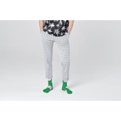 Zelené ponožky Happy Socks s veľkými ružovými bodkami, vzor Jumbo Dot