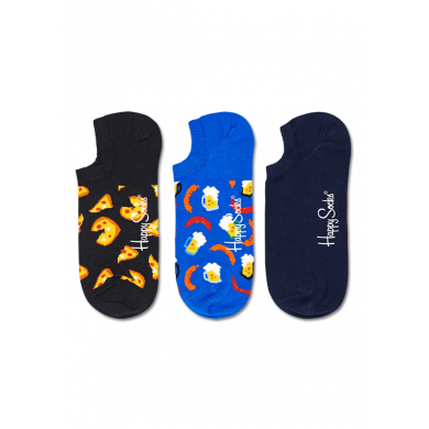 Nízke ponožky Happy Socks, vzor Junk Food - 3 páry