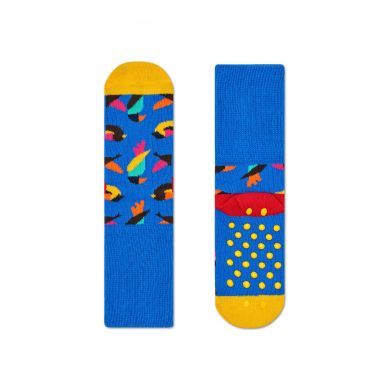 Dětské modré ponožky Happy Socks s farebným vzorom Birds (modré) - dva páry